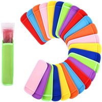 16 colors Antifreezing Popsicles Bags Tools Freezer Icy Pole Popsicle Holders Reusable Neoprene Insulation Ice Pop Sleeves Bag for Kids Summer