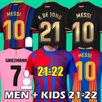21 22 Barcelona soccer jersey 2021 2022 MESSI ANSU FATI camiseta futbol GRIEZMANN DE JONG Maillots thailand football shirt 4th