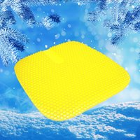 Honeycomb gel cushion Pillow summer cool breathable car ice cushions office can customize logo size 46-43cm