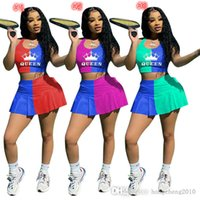 2021 Designer Summer Womens Sports Tracksuits Sexy Crop Top Shorts Yoga Outfits Slim Vest Skirt Two Pieces Set Jogging Suits Plus Sizes 796