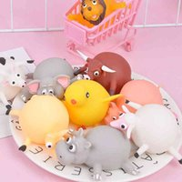 hippo gifts 2021 - Decompression Toy Creative Soft Rubber Iatable Ken Hippo Pop Up Animal Blow Balloon Stress Relief Squeeze Prank Gift