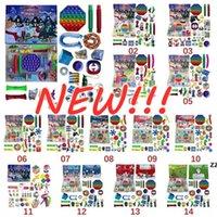 Stock Christmas Fidget Toy Advent Calendar Set December 24 days Push Bubble 24pcs Set Silicone Stress Reliever Sensory Toy Tiktok Wholesale