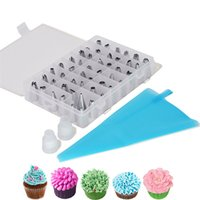 Cake Decorating Tools 51Pcs Set DIY Dessert Decorators Reusable Piping Nozzles Kits Pastry Bag Scraper Cream Tips Converter Kitchen Baking Tool