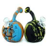 Skull Pumpkin waterbongpipe hookah tobacco bubbler dab rig halloween surprise gift hookahs