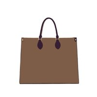 Fashion high quality handbag ladies brown tote shopping bag outdoor travel luxury designer classic totes brand composite PU large capacity single shoulder bags
