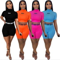 plus size summer outfits 2021 - Summer Womens 2 Two Piece Pants T Shirt Tracksuits Designer Crop Top Shorts Yoga Outfits long sleeved Casual Women Clothing Plus Size 9249