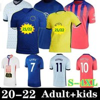 size:S-4XL 20 21 22 WERNER HAVERTZ CHILWELL ZIYECH Soccer Jerseys 2021 2022 PULISIC home blue Football Shirt KANTE MOUNT 4th Men Kids set Kits tops with socks