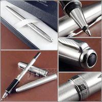 Metal Silver Gold Roller Pen Medium Nib 0.5mm Signature Ballpoint Pen Gift Pens for Writing School Office Suppliers Stationery