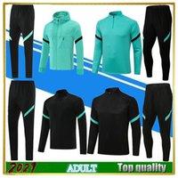 2021 LAUTARO soccer Tracksuit men jacket Kits ICARDI PERISIC NAINGGOLAN 21 22 MiLAN Hoodie training set