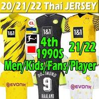 21 22 Dortmund 4th HAALAND REUS HAZARD 2021 2022 Fans Player Version soccer jerseys balr SANCHO 110th jersey MEN Kids Kits football shirts training uniforms Thai
