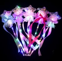 LED Light Sticks Clear Ball Star Shape Flashing Glow Magic Wands for Birthday Wedding Party Decor Kids Lighted Toys