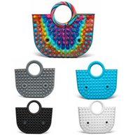 50%off Handbag Push Fidget Toy Party Favor 35*30cm Totes Creative Storage Bag Rainbow Silicone Stress Reliever Sensory Toys STB008 Youpin