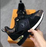 2021 NEW Luxury leather casual shoes RUN AWAY Women Designer sneakers men shoes genuine leather fashion Mixed color original box