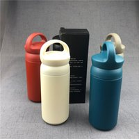 portable folding water bottle 2021 - Portable Stainless Steel Thermos Cups Solid Color Fashion Student Insulation Water Bottle Cup Mugs Outdoor 350ML Carry Cups VT1649