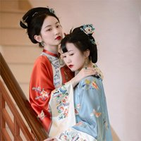 Ethnic Clothing 2021 Traditional Chinese For Women Qipao Top Tang Suit Cheongsam Blouse Vintage Classic Style Shirts