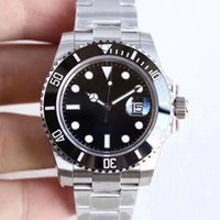 U1 Factory ST9 Watch Ceramic Bezel Black Sapphire Date Dial 41mm Automatic Mechanical Stainless Steel Mens Men 116610 126610LN Wristwatches