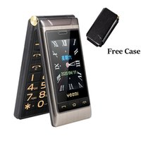 big mp3 2021 - Luxury Unlocked Flip Mobile Phone Golden telephone Dual Sim Card 2.8 inch Double Large Touch Screen Big Button Louder Voice Cellphone For Student Old Man Free Case