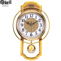 plastic swings 2021 - European Vintage Wall Clock Swing Watch Mechanism Living Room Silent Pendule Mural Decoracion Horloge Murale Gift 50 Clocks