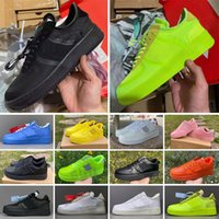 wholesale One 1 running shoes mens women utility white black Orange red trainer flax wheat blue pink sports sneakers Size 36-45