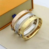 Fashion printed bracelet silver rose gold classic design steel for women men good quality with box