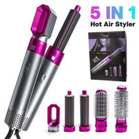 5 In1 Multi-Functional Dryer Comb Hair Curling Straightening Styling Electric Air Iron with Luxury Wrap Factory Outlet