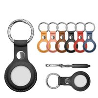 DHL Party Favor PU Leather Key Ring for Apple Airtags Tracker Accessories Anti-scratch Protective Sleeve Cover Shell Keychain Air tag case CT03