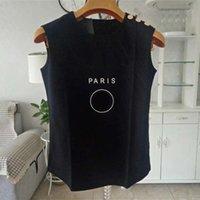 Women Clothes Tank Top Womens Designer T Shirt Black White Summer Short Sleeve Ladies Clothing Size S-L