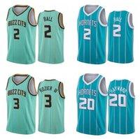 Men S-6XL basketball Jersey 2 LaMelo Ball 3 Rozier 20 Hayward Mint Green white purple City sleeveless Jerseys