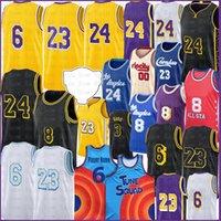 Los 23 6 Angeles Basketball Jersey Carmelo 8 24 00 Anthony 3 Davis Kyle 0 Kuzma Jerseys 32 34 Mens S-XXL Black Gold Movie Blue Space Jam Tune Squad