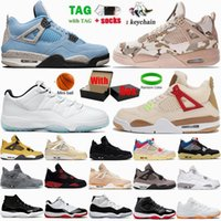 Jumpman 4 Mens Basketball Shoes University Blue Black Cat White Oreo Low Legend Sail Bred 4s Sneakers 11 11s Veterans Day Shimmer Lightning Women Sports Trainers