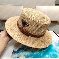 Straw Sunhat Bucket Hats Summer Hat Women Raffia Mens Hats Luxurys Designers Caps Hats Cap Mens Bonnet Beach-hat Sombrero Firmati 2104083L
