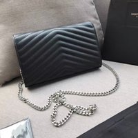 Genuine Leather Clutch Bags woman Chain Purse Fashion Lady Shoulder Bag Cowhide Handbag Presbyopic Messenger Women cross body Handbags Wholesale amylulubb
