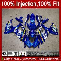 Injection Mold For SUZUKI GSXR600 K8 GSX-R750 GSXR-600 GSXR-750 GSXR750 Bodywork 9HC.61 glossy blue GSX-R600 2008 2009 2010 GSXR 600 750 CC 600CC 750CC 08 09 10 Fairing
