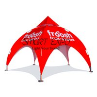 Outdoor Pentagram Canopy Arch Tent for Event Advertising Display with Customized Logo Printing Wheeled Bag Packing
