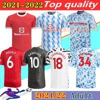 Manchester 2021 2022 soccer jerseys UTD CAVANI VAN DE BEEK B. FERNANDES RASHFORD football shirt 20 21 22 man + kids kit HUMANRACE fourth uniforms