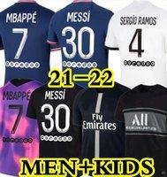 21 22 MBAPPE MESSI HAKIMI SERGIO RAMOS soccer jerseys Maillots football shirts 2021 2022 MARQUINHOS VERRATTI DONNARUMMA men kids uniform enfants maillot de foot