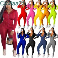 Women Tracksuits Two Pieces Set Deisgner Sportswear Long Sleeve Jacket Pants Hoodie Legging Outfits Bodycon Sports Set 15 Colours