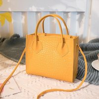 designer vintage crocodile bags 2021 - Pattern 2020 Fashion Crossbody Trend Women Handbags Crocodile Vintage Classic Solid Style Shoulder Bag Stylish Tote for MVM5