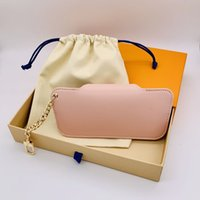 Luxury Sunglasses Bag brand unisex Men Women Keather Key Ring Bule Pink Eyeglasses With Box