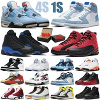 With Box mens basketball shoes 1s 12s jumpman Cactus Jack 4s women What The 5s Hyper Royal 13s University Blue sports sneakers trainers