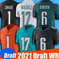 2021 Draft 1 Ja'Marr Chase Jersey 17 Jaylen Waddle 6 DeVonta Smith Jerseys 8 Kyle Pitts 50 Gregory Rousseau 11 Kellen Mond Jersey