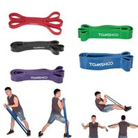 Discount yoga rubber stretch resistance exercise band Resistance Bands TOMSHOO 208cm Workout Loop Band Pull Up Assist Stretch Powerlifting Bodybulding Yoga Exercise Fitness