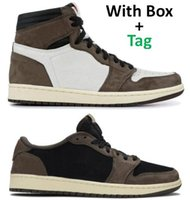 Best Quality 1 High OG TS Cactus Jack Suede 3M Basketball Shoes Men Women 1s TS Sports Sneakers With Box