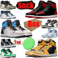 1 1s mens womens basketball shoes Prototype Bred Patent Electro Orange Pollen Fragment men women trainers sports sneakers