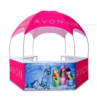 Portable Dome Kiosk Tent Advertising Display Booth with Custom Full Color Printing and Carry Bags