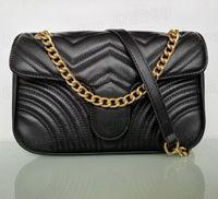 Top Quality Fashion Shoulder Bags Women Chain Crossbody Handbags Lady Leather Handbag Purses Wallet Purse Female Messenger Bag Many Colors Chooes