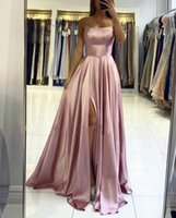 Burgundy Bridesmaid Dresses Backless Candy Color Long Beach Wedding Party Guest Dress Formal Gowns Evening Birthday Graduation Pockets Elastic Satin Like Silk