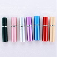 5ml Mini Spray Perfume Bottle Travel Refillable Empty Cosmetic Container Essential Oil Bottle Atomizer Aluminum Bottles Party Favor RRA972