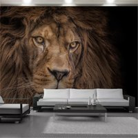 Home Decor 3d Wallpaper HD Mighty Wild Animal Lion Living Room Bedroom Background Wall Decoration Mural Wallpapers Wallcovering