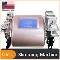 Ultrasonic Cavitation Lipo Laser Fat Slimming Machine Stock In US !!! Cellulite Radio Frequency Skin Tightening Beauty Equipment 5 Heads